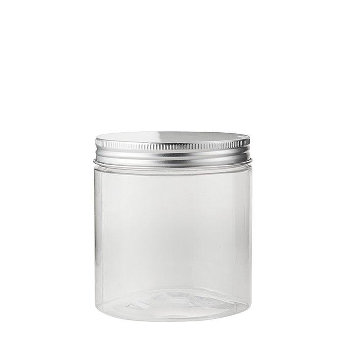 Confezione 6 barattoli pet trasparenti alimenti d9 h10 cm
