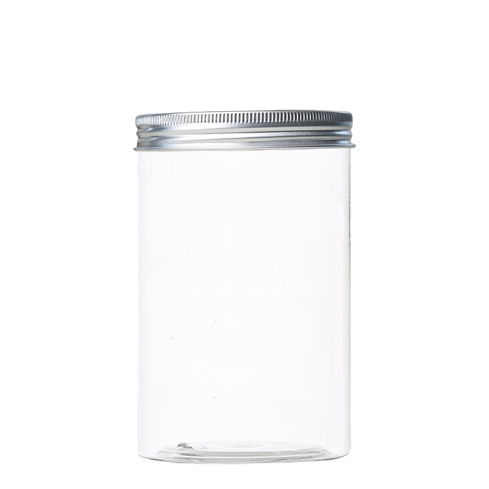6 bocaux pour aliments en pet transparent d9 h14 cm