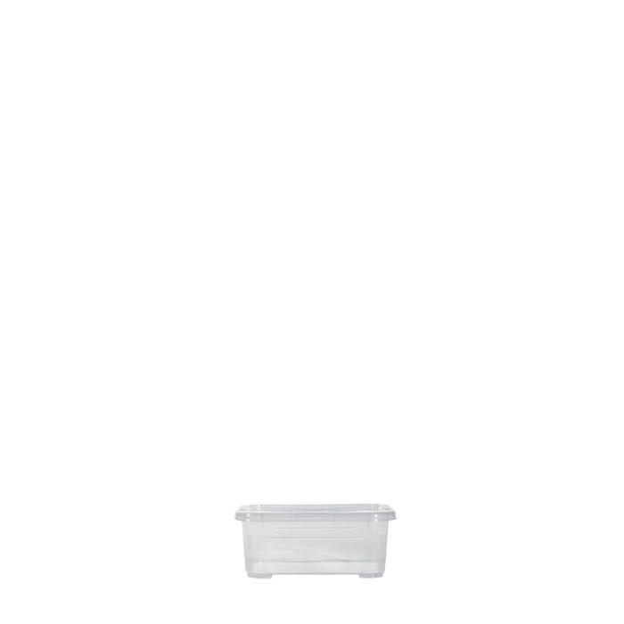 Scatola plastica trasparente con coperchio 12 x 18 h7.2 cm