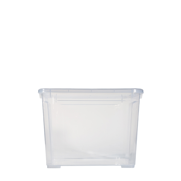 Scatola plastica trasparente con coperchio 26.5 x 38 h28.5 cm