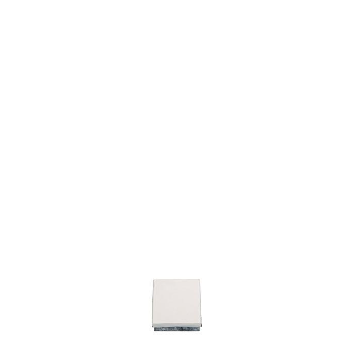 Scatola bianca in latta 6 x 6 h2 cm