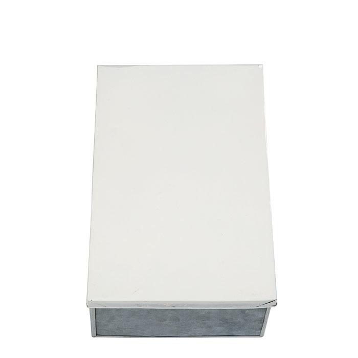 Scatola bianca per scarpe in latta 21 x 32 h12 cm