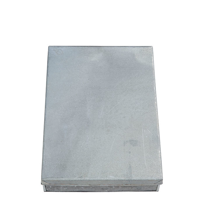 Tin box on size a4 24 x 32 h7 cm