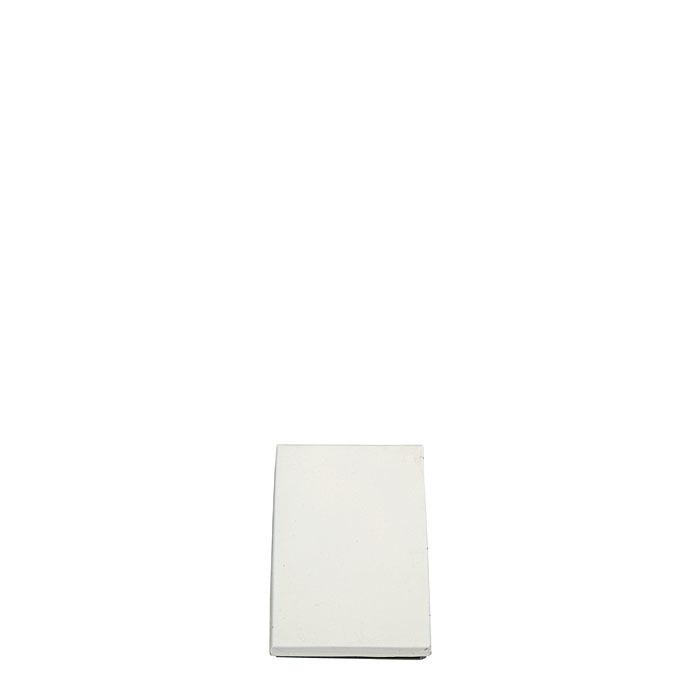 Scatola bianca 2 scomparti in latta 9.5 x 14 h2.5 cm