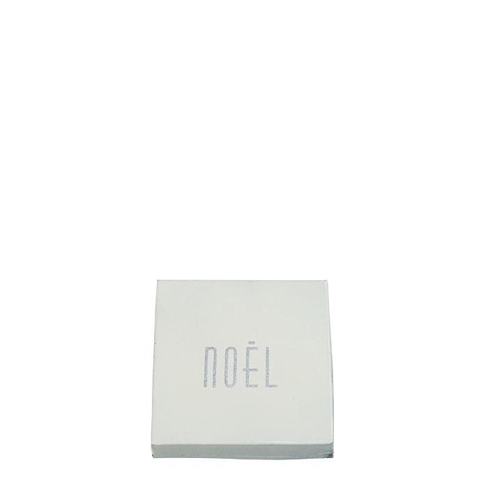 Box in latta con scritta glitter noel - natale 13 x 13 h3.5 cm