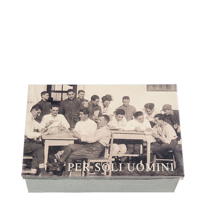 Tin box with inscription for men only 21 x 32 h12 cm
