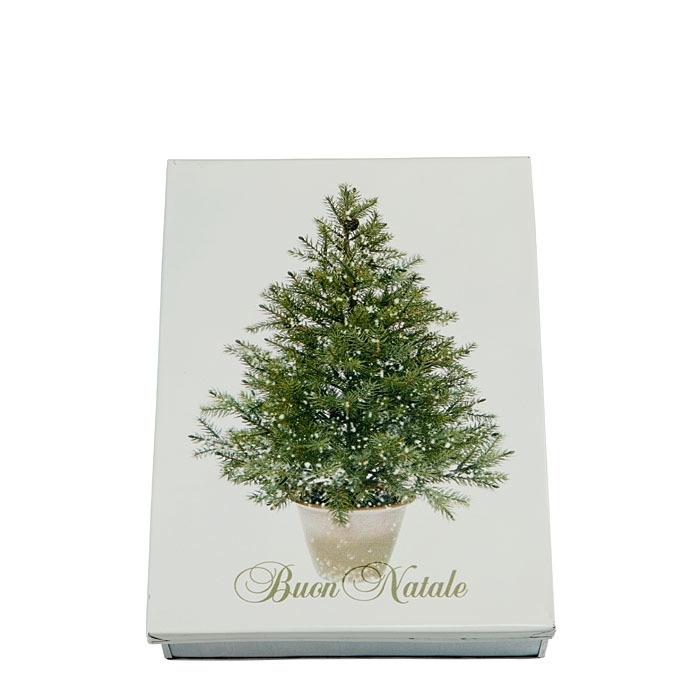 Tin box with fir and inscription merry christmas 24 x 32 h7 cm