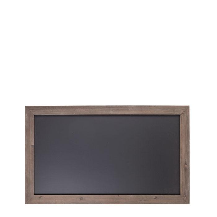 Tableau noir en mdf avec cadre en bois 66 x 110 cm