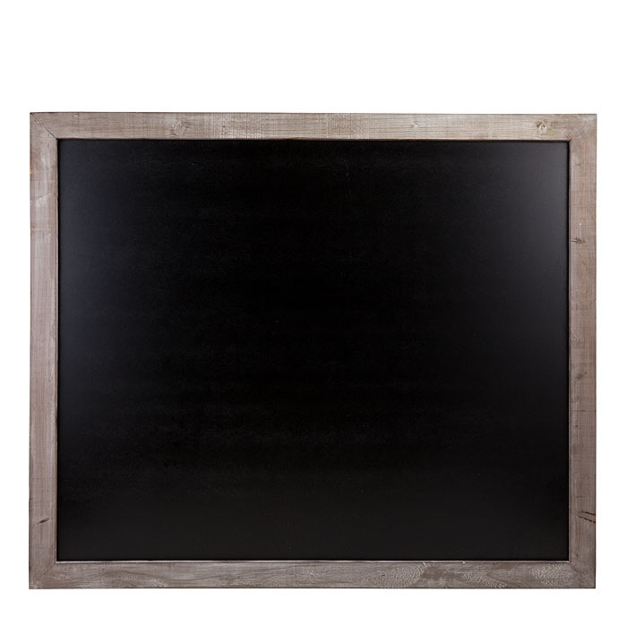 Tableau noir en mdf avec cadre en bois 110 x 140 cm