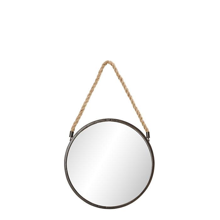 Miroir en fer avec corde d38 cm