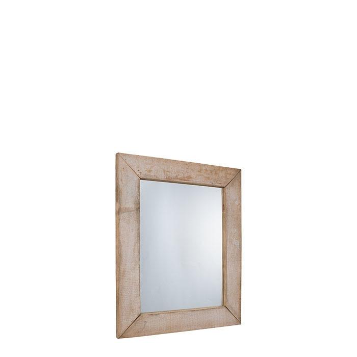 Miroir en bois brut couleur naturel 80 x 100 cm