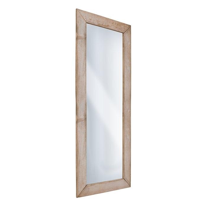 Miroir en bois brut couleur naturel 70 x 210 cm