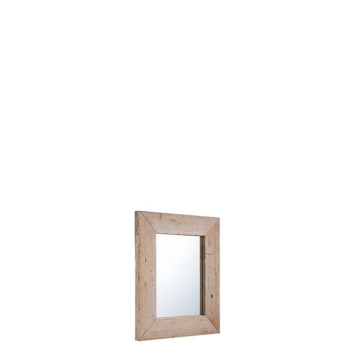 Miroir en bois brut couleur naturel 50 x 60 cm