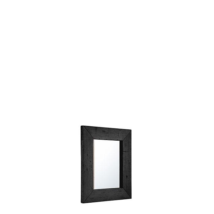 Miroir en bois brut noir 50x60 cm