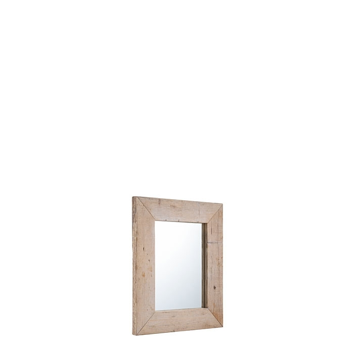 Miroir en bois brut couleur naturel 60 x 70 cm