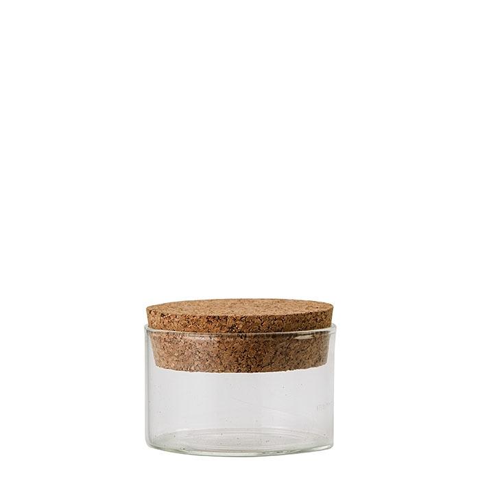 Fiala in vetro con tappo in sughero v150 ml d8 h5 cm