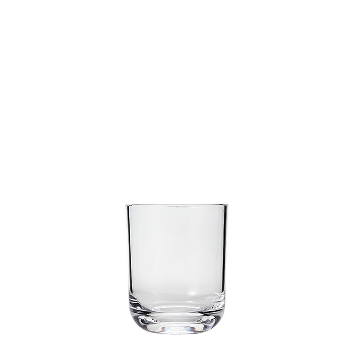Bicchiere base tonda in metacrilato seconda scelta d8 h10 cm