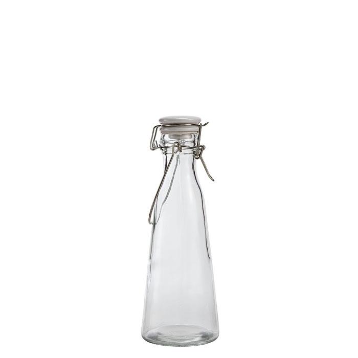 Bottiglia in vetro tipo latte con tappo h23 v500