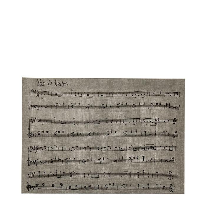 Cellulose fiber placemat music 31.5 x 47 cm