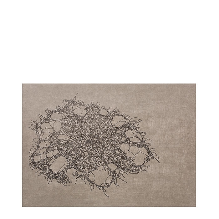 Cellulose fiber placemat lace 31.5 x 47 cm