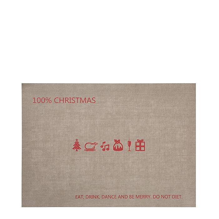 Cellulose fiber placemat 100%christmas red 31.5 x 47 cm