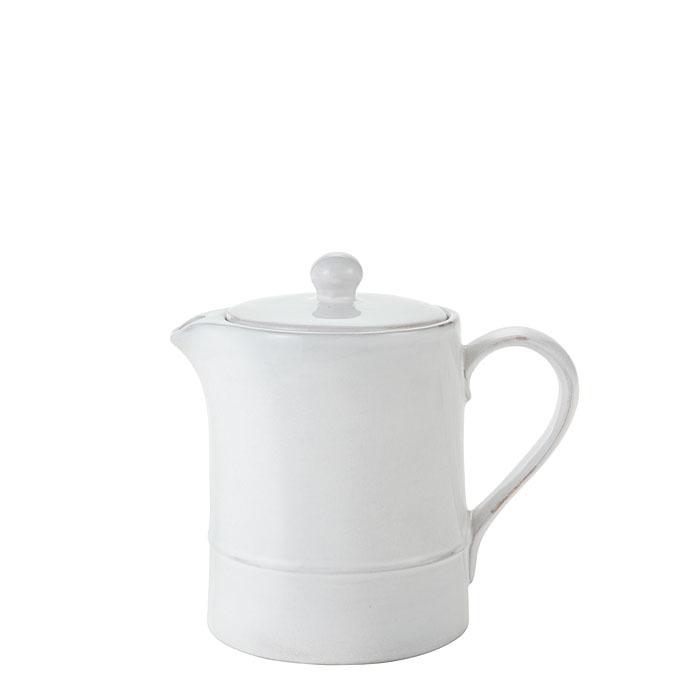 Terracotta teapot relief line d11.5 h 14 cm