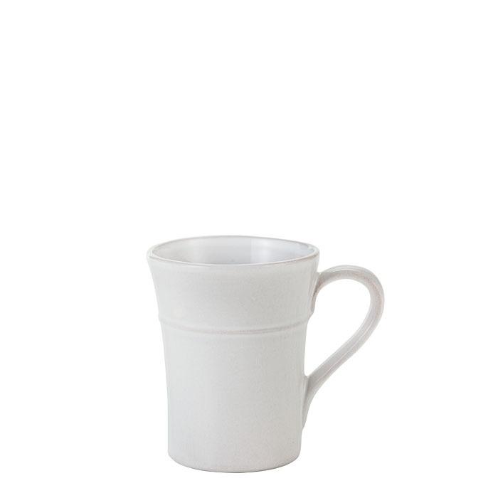 Tazza mug in terracotta con riga in rilievo d9 h11 cm