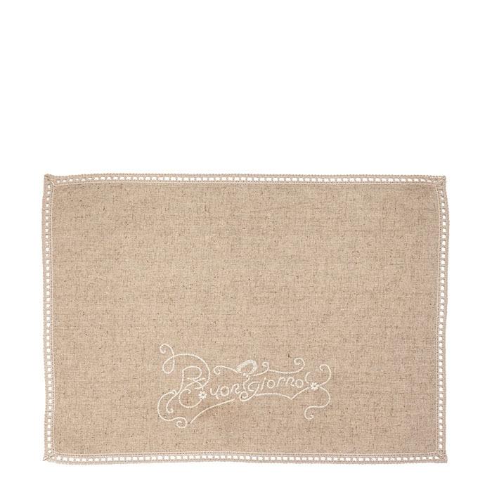 Placemat buongiorno embroidery linen color