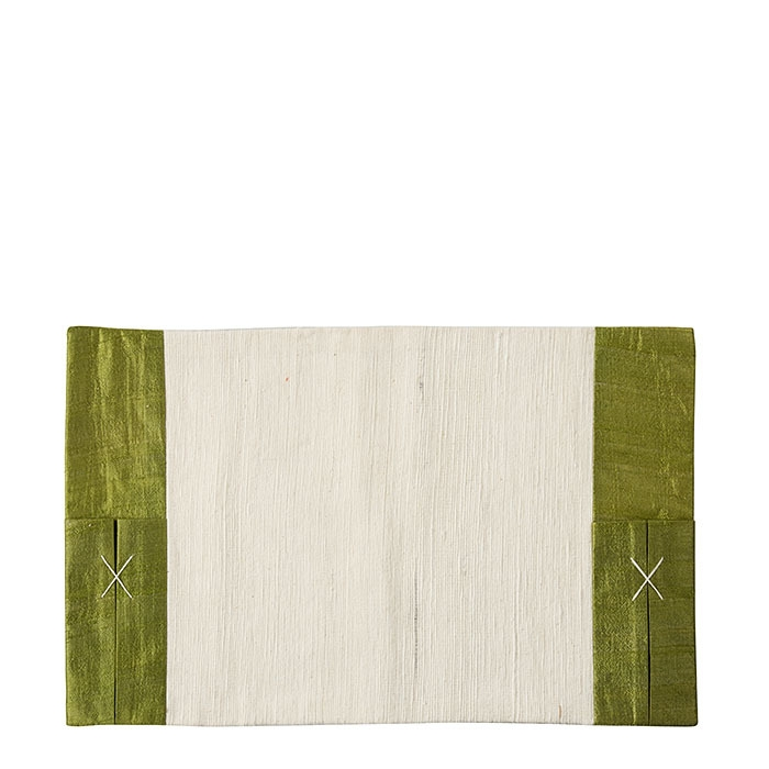Placemat green color with pockets 28 x 44 cm