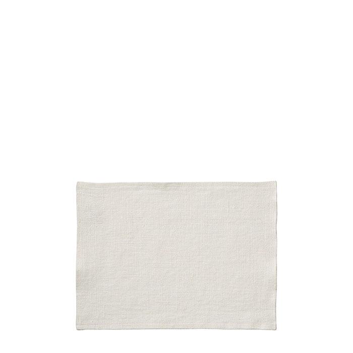 100% white linen place mat for wooden box 25 x 35 cm