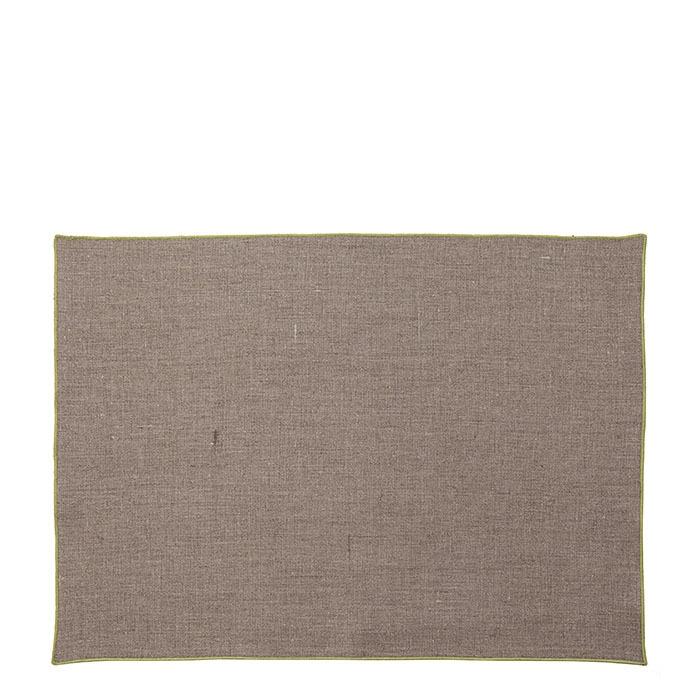 100% green hem linen placemat 35 x 50 cm