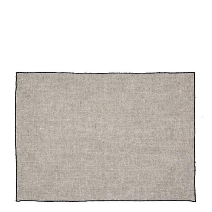 100% black hem linen placemat with black edge 35 x 50 cm