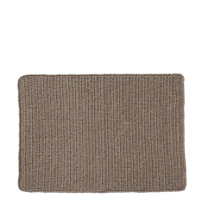 100%linen crochet placemat natural color 33 x 49 cm