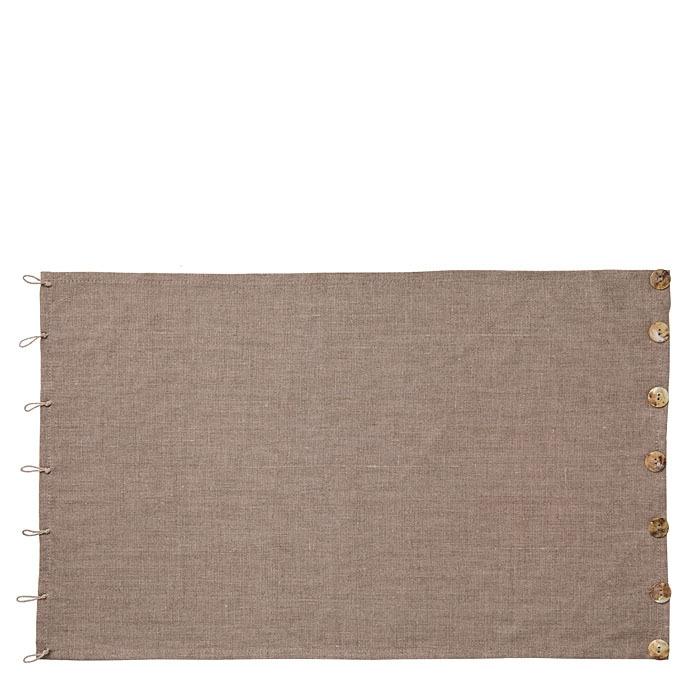 Tovaglietta 100%lino naturale con bottoni e asole 35 x 54 cm