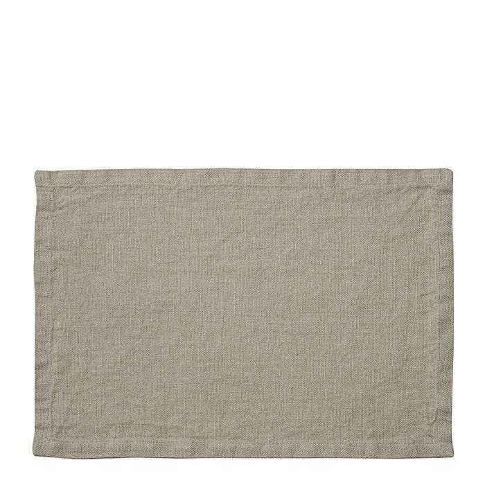 100%linen rustic placemat natural color 35 x 50 cm