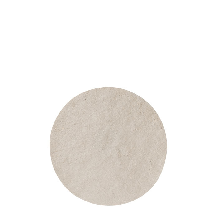 Round tablemat in artificial stone light colour d39 cm