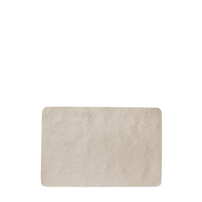Tablemat in artificial stone light colour  29 x 42 cm