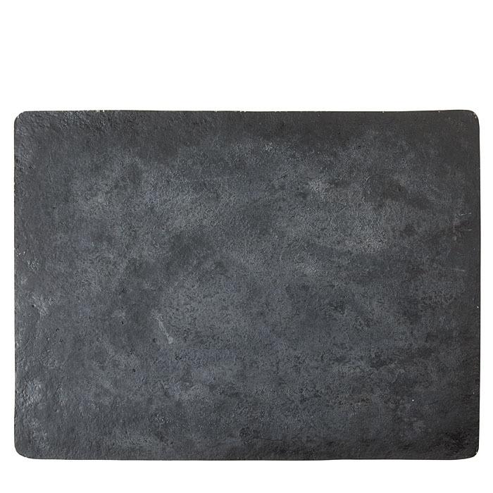 Black artificial stone maxi tablemat 52 x 70 cm