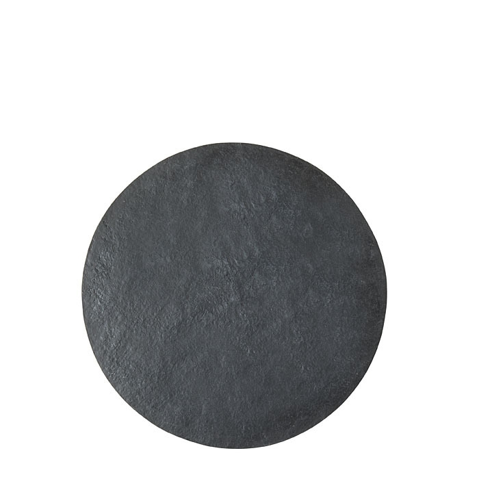 Round tablemat in black artificial stone d44 cm