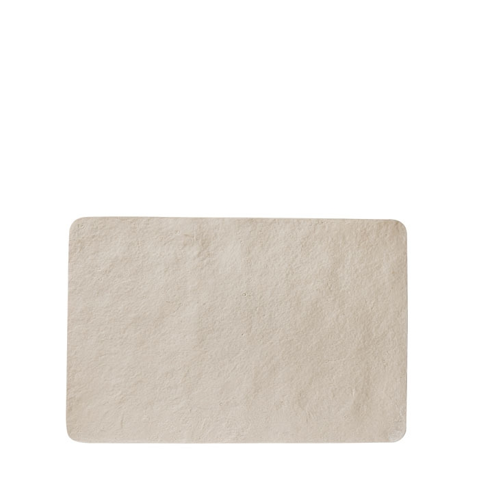 Tablemat in artificial stone light colour  34 x 51 cm