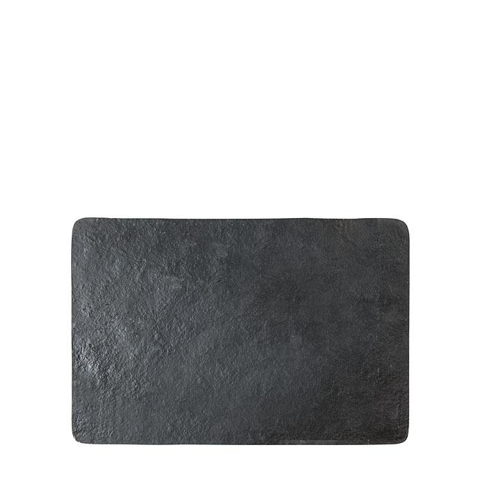 Black artificial stone tablemat 34 x 51 cm
