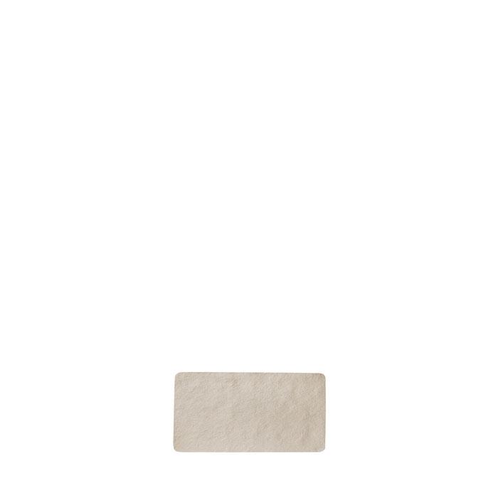 Small tray in artificial stone light colour 24 x 12.5 cm