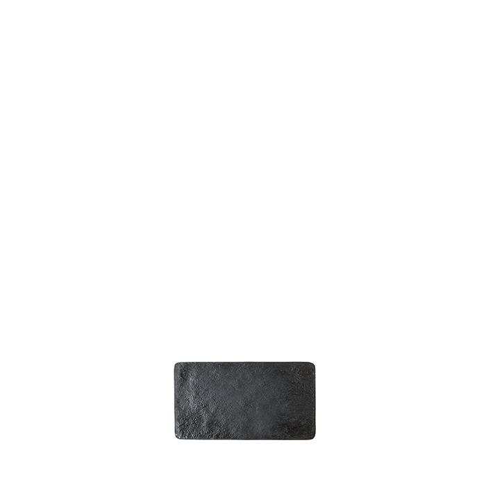 Black small tray in artificial stone 24 x 12.5 cm