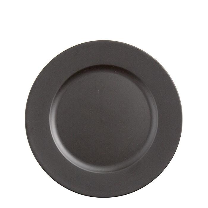Sottopiatto in plastica nero d33 cm