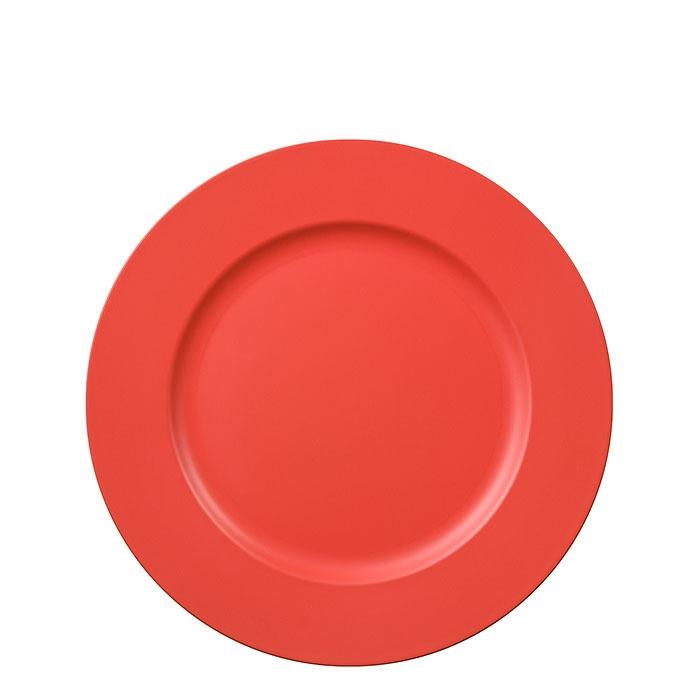 Sous-assiette en plastique couleur orange d33 cm