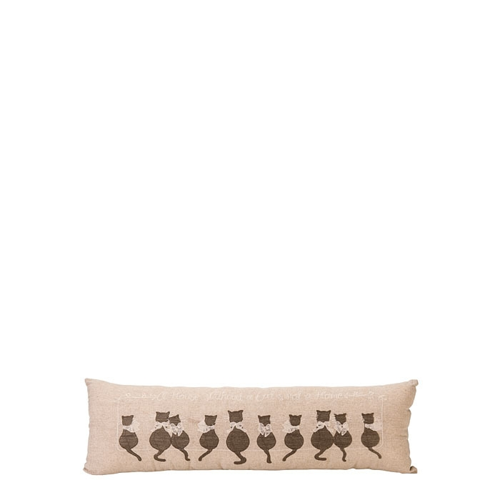 Cats in line throw pillow 22 x 68 cm