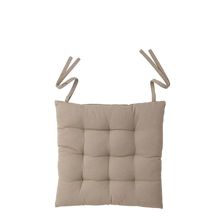Cuscino bistrot colore lino con lacci 40 x 40 cm