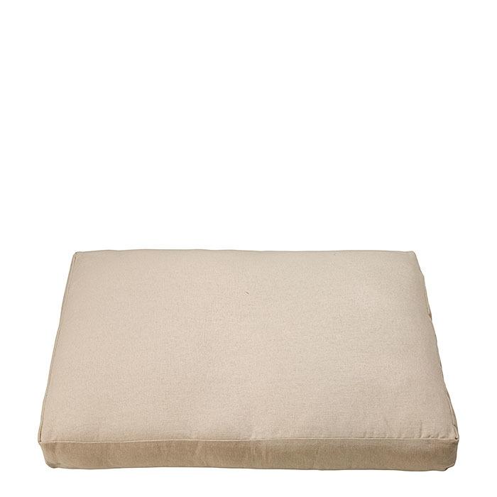 Cuscino colore lino con zip per cassetta 47.5 x 72 h6.5 cm