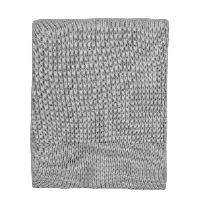Grey knitted blanket 130 x 150 cm