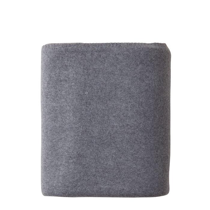 Grey pile blanket 130 x 170 cm